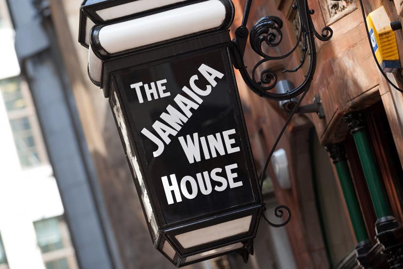 Jamaica Wine House - Cornhill, London. Sign